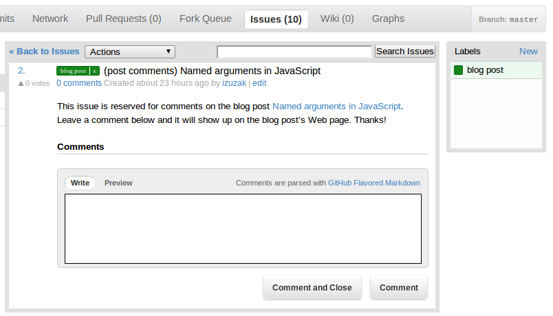GitHub hosted comments for GitHub hosted blogs